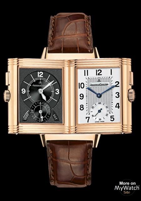Watch Jaeger-LeCoultre Reverso Duoface | Reverso Q2712410 Pink Gold -  Alligator Bracelet