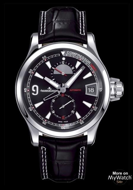 Watch Jaeger-LeCoultre Master Compressor GMT | Master Compressor Q1738471  Steel - Aligator Bracelet