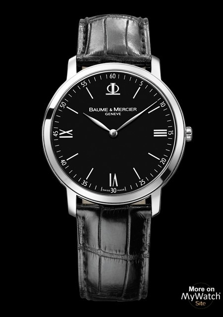 Classima Executives L Ultra Thin - Steel - Alligator Strap - Baume & Mercier