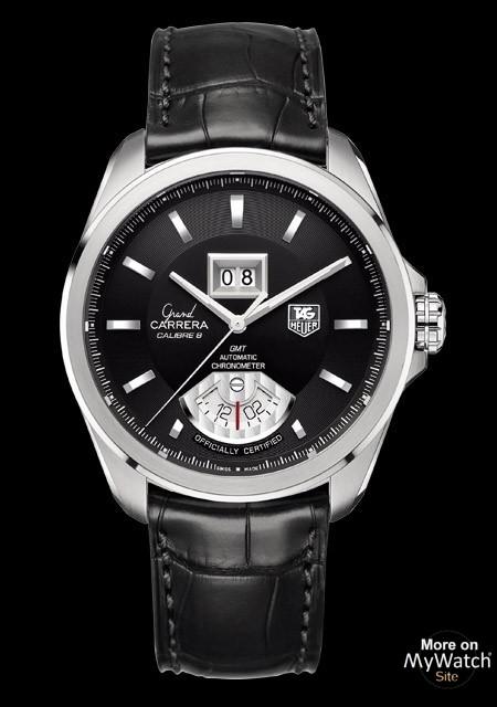 Hublot Watch Price >> Watch TAG Heuer GRAND CARRERA Calibre 8 RS Grande-Date GMT   GRAND CARRERA WAV5111.FC6225 Steel ...
