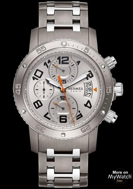 tout neuf e764f 2ba8e Watch Hermès Clipper Chrono Mécanique Plongée | Clipper Titanium and Steel