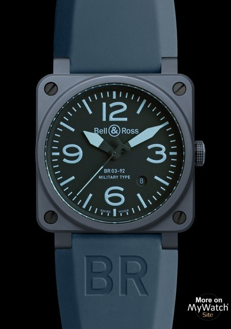 3c29dabcc Watch Bell & Ross BR 03-92 Blue Ceramic | AVIATION BR0392-CERAM-BLUE ...