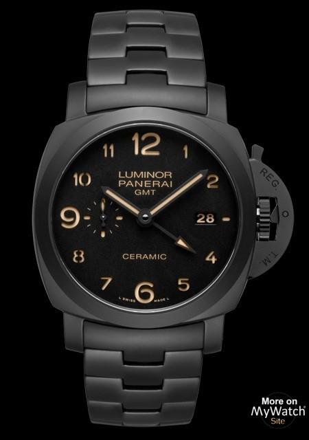 51d83711351 Watch Panerai Tuttonero Luminor 1950 3 Days GMT Automatic ...