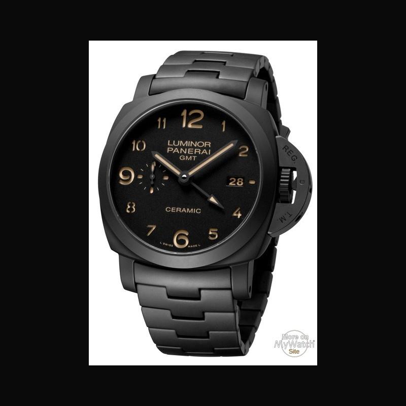 c707c810609 Watch Panerai Tuttonero Luminor 1950 3 Days GMT Automatic Ceramica ...