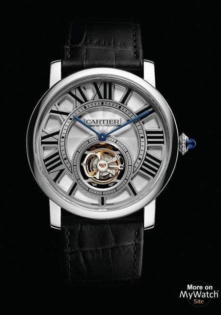 watch cartier rotonde de cartier tourbillon volant fine watchmaking collection w1556216 white. Black Bedroom Furniture Sets. Home Design Ideas