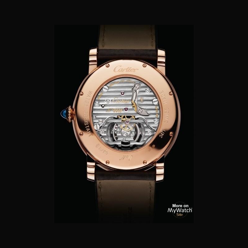 watch cartier rotonde de cartier tourbillon volant fine watchmaking collection w1556215 pink. Black Bedroom Furniture Sets. Home Design Ideas