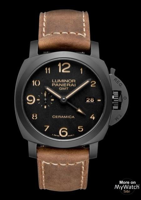 Omega Watch Price >> Watch Panerai Luminor 1950 3 Days GMT Automatic Ceramica | Luminor 1950 PAM00441 Black Ceramic ...