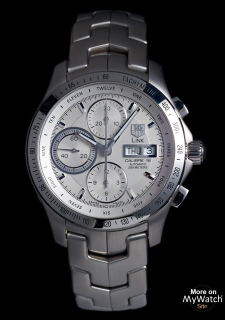 watch tag heuer link calibre 16 day date chronographe. Black Bedroom Furniture Sets. Home Design Ideas