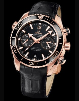 Seamaster Planet Ocean Ceragold Chronographe