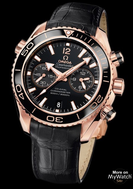 Watch Omega Seamaster Planet Ocean Ceragold Chronographe ... 4dca6aa146