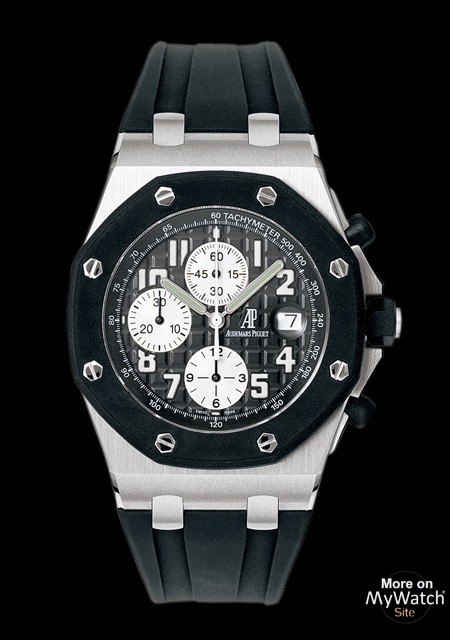 audemars offshore rubber strap piguet stainless oo royal ap black chrono oak watches