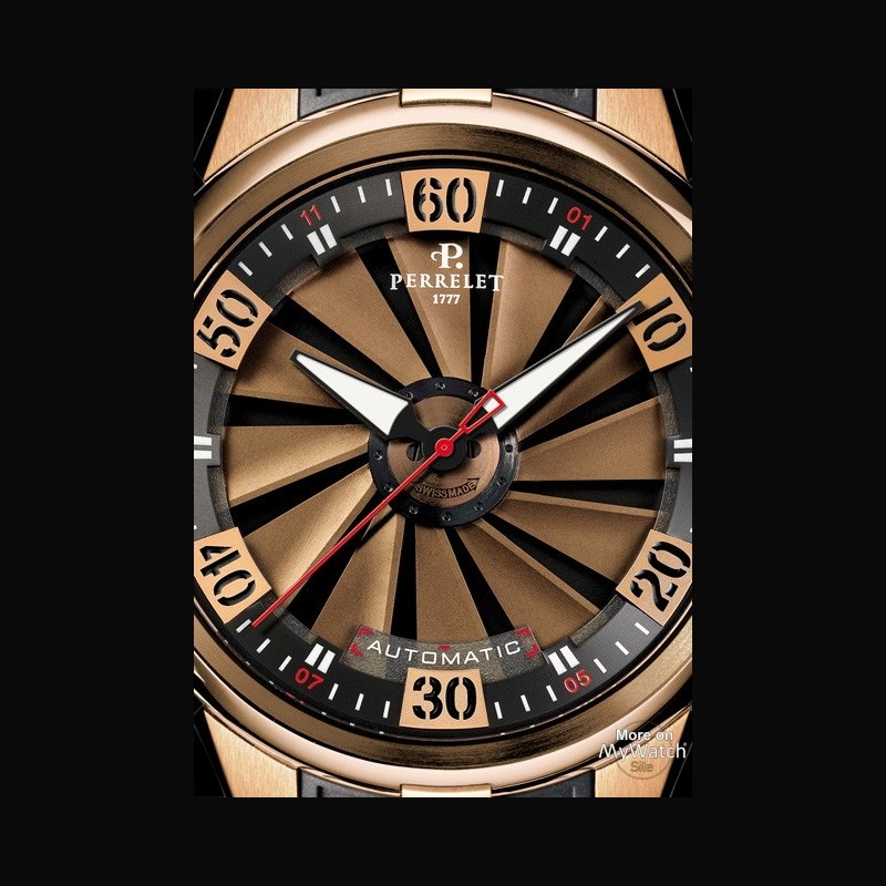 watch perrelet turbine xl gold  double rotor a30301 pink
