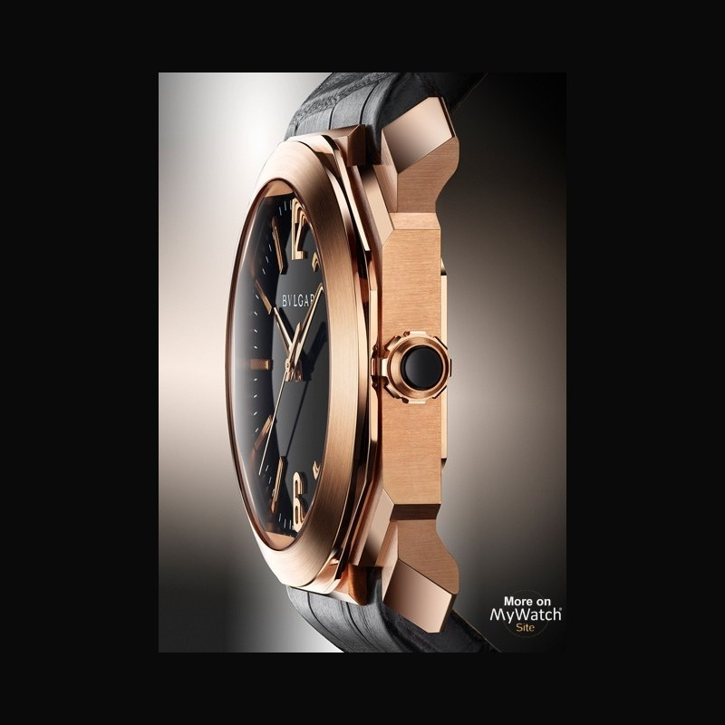 new arrival 993a0 67282 Watch Bvlgari Octo | Octo BGOP41BGLD Pink Gold - Alligator ...
