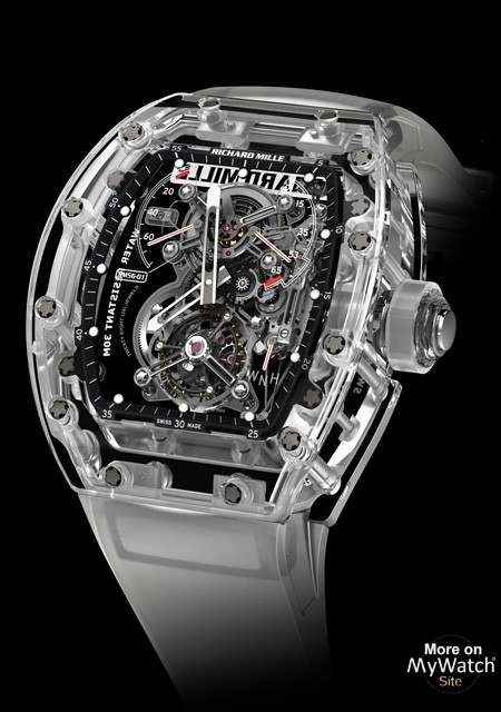 Watch Richard Mille Rm 56 01 Tourbillon Saphir Rm 56 Sapphire Crystal Aerospace Nano Strap