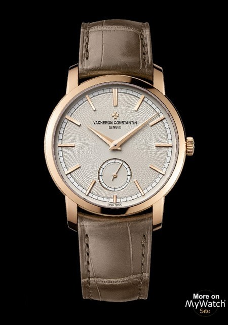 Patrimony Traditionnelle Paris Boutique Small Seconds - Pink gold - Alligator Bracelet - Vacheron Constantin