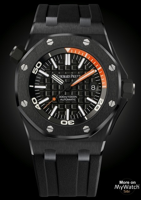 Watch audemars piguet royal oak offshore diver royal oak offshore 15707ce oo black for Royal oak offshore ceramic