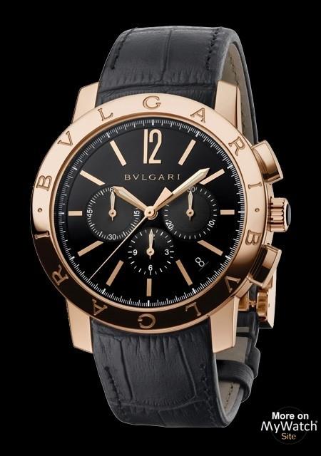 Tag Heuer Price >> Watch Bvlgari Bulgari Bulgari Chrono | Bulgari Bulgari 102044 Pink Gold - Alligator Bracelet