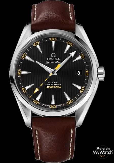 Watch Omega Aqua Terra 15 000 Seamaster 231 12 42 21 01 001 Steel Leather Bracelet