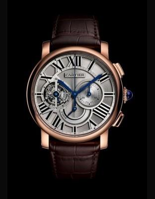 Rotonde de Cartier Tourbillon chronographe 8 jours de réserve de marche