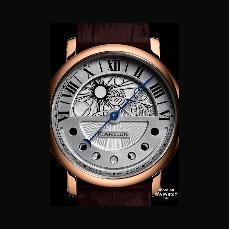 watch cartier rotonde de cartier jour et nuit fine watchmaking collection w1556243 pink gold. Black Bedroom Furniture Sets. Home Design Ideas