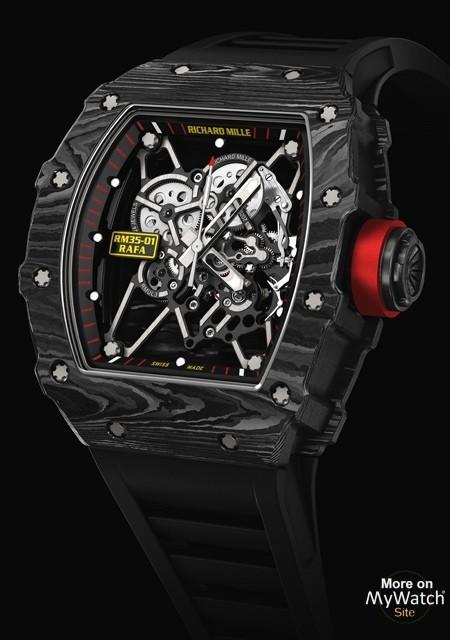 Watch Richard Mille Rm 35 01 Rafael Nadal Rm 35 Ntpt Carbon Rubber Strap