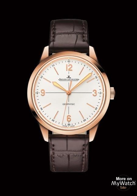 Watch jaeger lecoultre geophysic 1958 geophysic 1958 q8002520 pink gold alligator bracelet for Geophysic watches