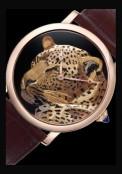 Rotonde de Cartier 42 mm décor panthère damasquinage
