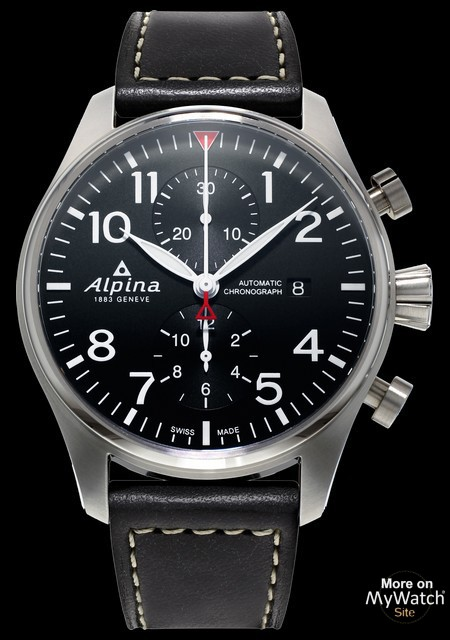 watch alpina startimer pilot chronograph automatic startimer pilot al 725b4s6 stainless steel. Black Bedroom Furniture Sets. Home Design Ideas