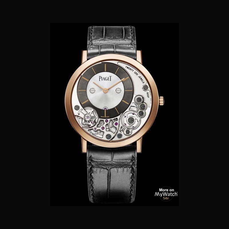 Watch piaget altiplano 900p altiplano g0a39110 pink gold strap alligator for Altiplano watches