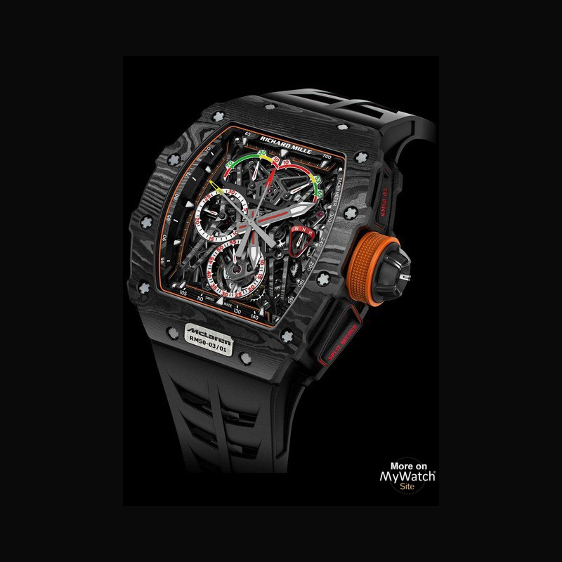 Omega Watch Price >> Watch Richard Mille RM 50-03 McLaren F1 | RM 50 Carbon - Strap Rubber