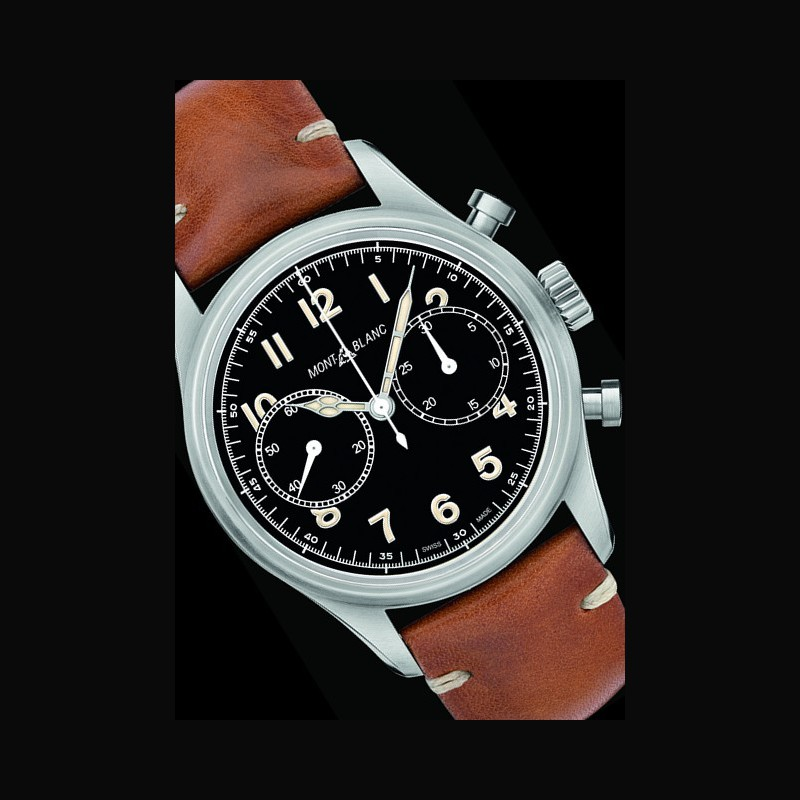 1862b19977f Watch 1858 Automatic Chronograph | Montblanc 117836 Stainless ...