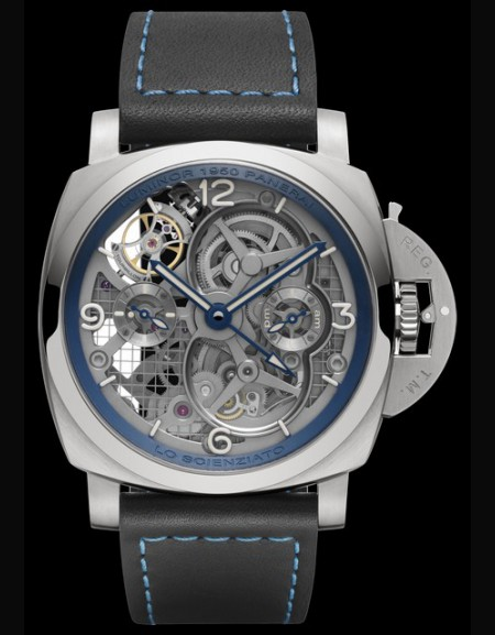 Lo Scienziato Luminor 1950 Tourbillon GMT Titanio 47 mm