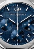 Laureato Chronographe - Acier sur acier cadran bleu foncé