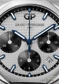 Laureato Chronographe - Acier sur cuir cadran argenté