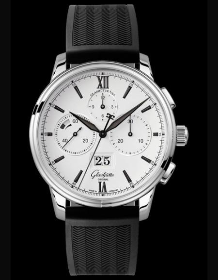 Senator Chronograph Panorama Date - Rubber bracelet