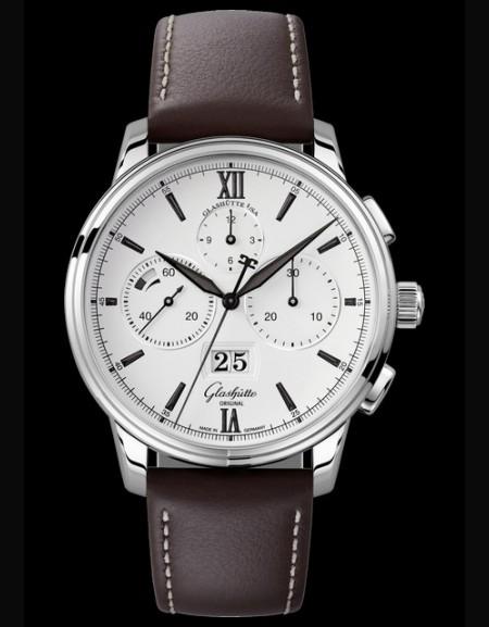Senator Chronograph Panorama Date -   brown leather strap-