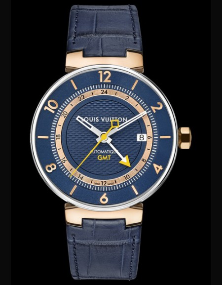 Tambour Moon Blue & Gold GMT