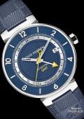 Tambour Moon GMT Blue, acier et or rose