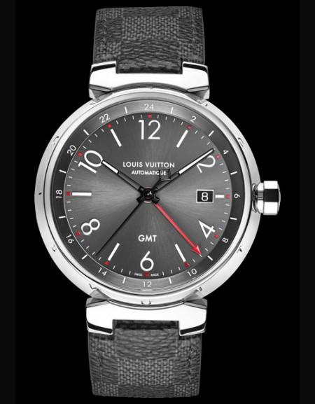 Tambour Essentiel Grey - GMT Date - strap gris -