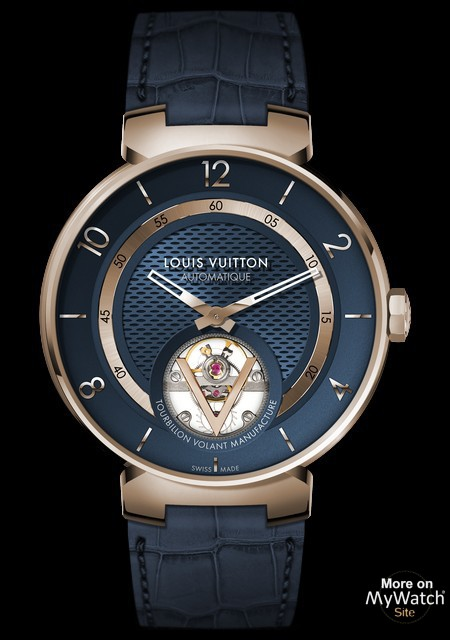 TAMBOUR MOON TOURBILLON VOLANT BLUE AND GOLD