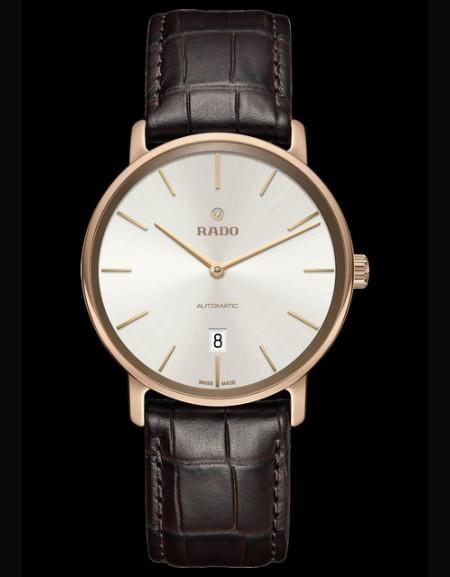Diamaster bracelet marron cadran blanc - (montre unisexe)