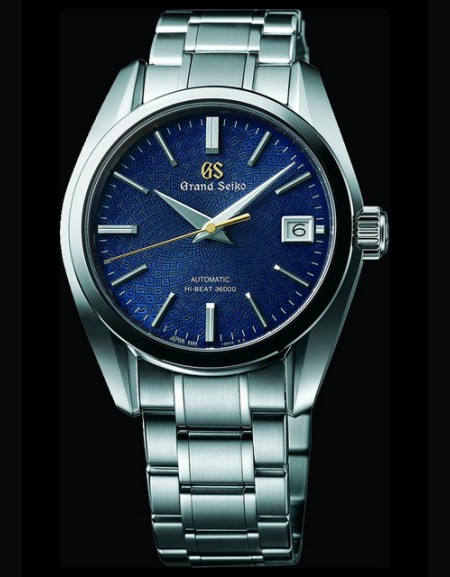 Grand Seiko 9S anniversaire bracelet et boîtier acier cadran bleu