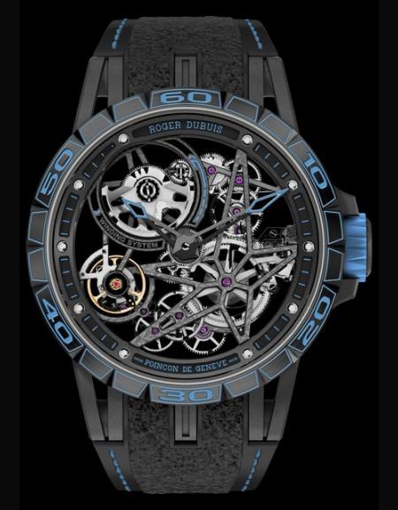 Excalibur Spider Pirelli - Squelette automatique - titane noir et caoutchouc blanc –