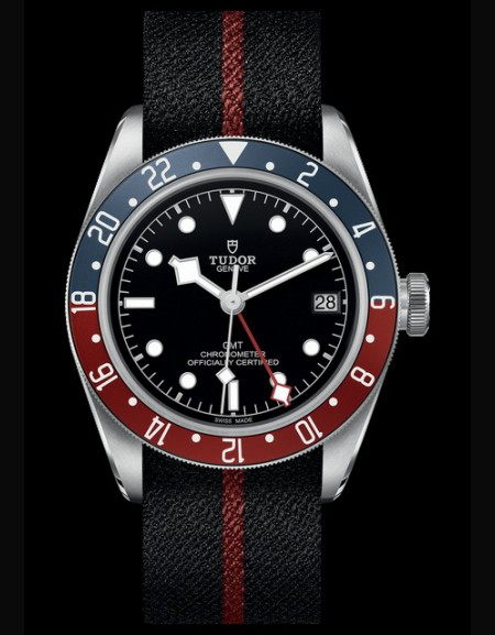 BLACK BAY GMT Cadran Noir Strap Noir Fabric