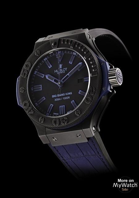 Hublot Watch Price >> Watch Hublot Big Bang King All Black Blue | Big Bang 322.CI.1190.GR.ABB09 Black ceramic