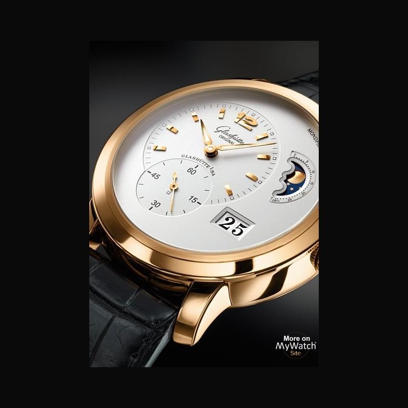 watch glashütte original panomaticlunar xl  pano 900234