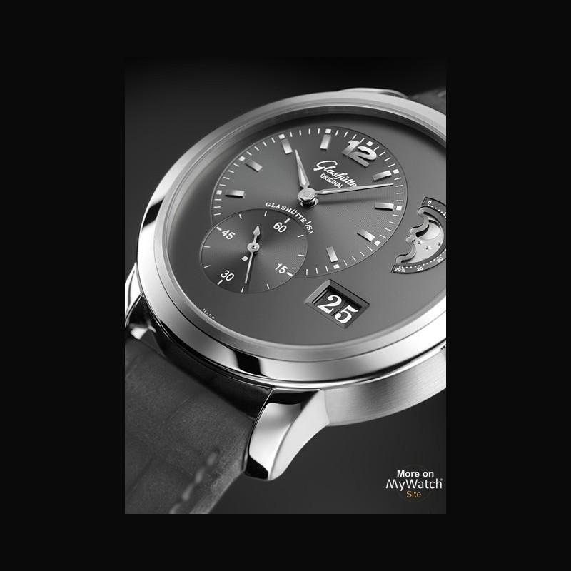 watch glashütte original panomaticlunar xl  pano 900236