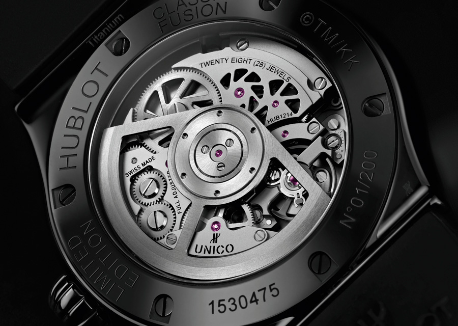 Le calibre Manufacture Unico MHUB1214 de la Hublot Classic Fusion Takashi Murakami All Black