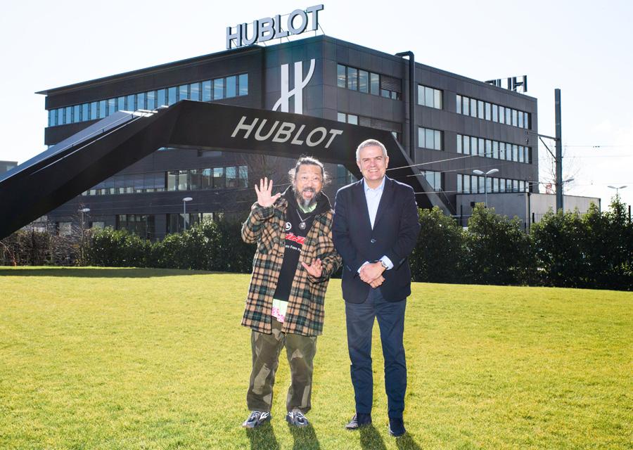 Visite de la manufacture Hublot de Takashi Murakami en février 2020