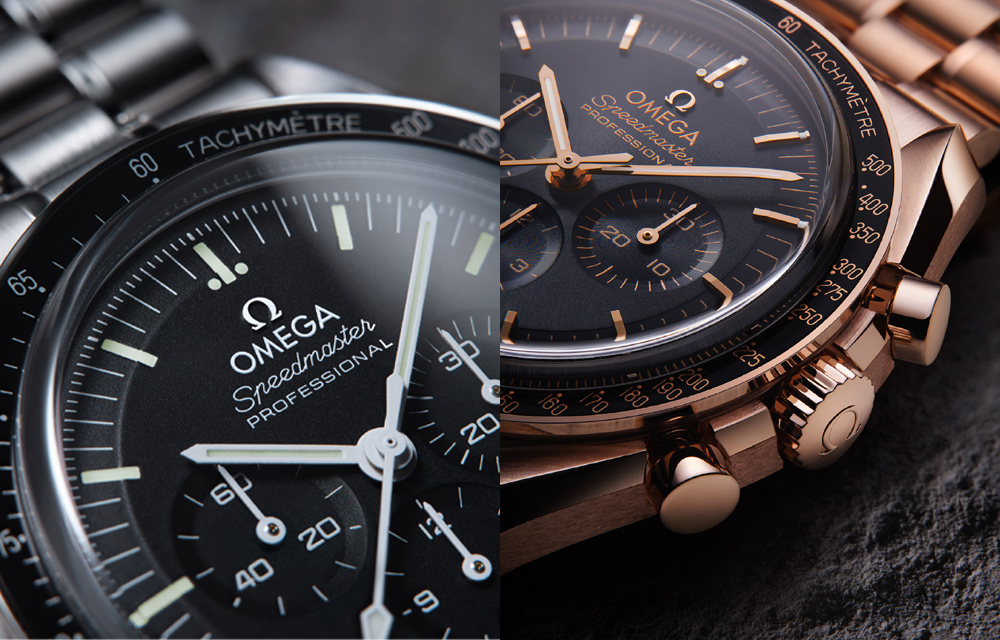 Le chronographe Omega Speedmaster Moonwatch Master Chronometer est disponible en huit versions différentes